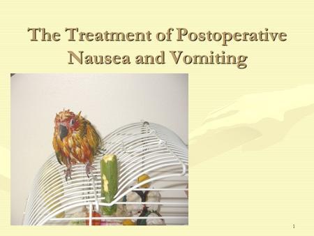 postoperative nausea and vomiting pdf