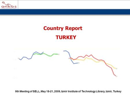 Country Report TURKEY 9th Meeting of SELL, May 18-21, 2009, Izmir Institute of Technology Library, Izmir, Turkey.