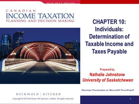 Individuals: Determination of Taxable Income and Taxes Payable