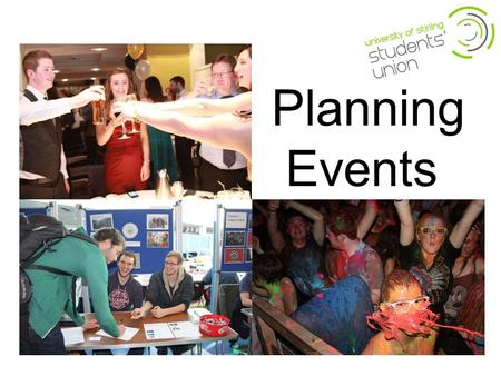 Planning Events. The Point. Explore the type of events that you can organise Develop understanding of how to plan an event Understand resources required.