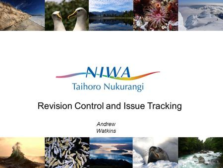 Revision Control and Issue Tracking Andrew Watkins.