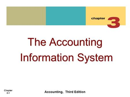 Chapter 3-1 The Accounting Information System Information System Accounting, Third Edition.