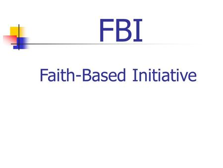 Faith-Based Initiative FBI. BSA Research Points to Congregations as the Best Place to Start New Sustainable Units.