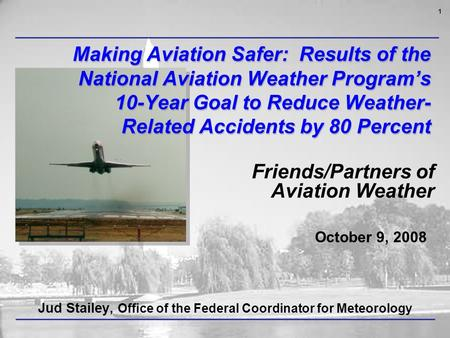 Reducing weather related accidents