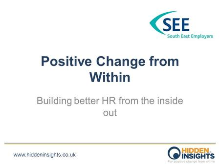 Positive Change from Within