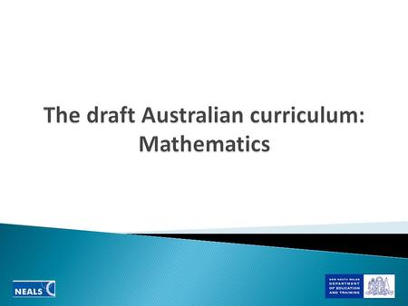 Finding the draft curriculum  edu.au/Home.