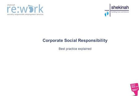 Corporate Social Responsibility Best practice explained.
