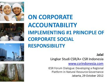 ON CORPORATE ACCOUNTABILITY