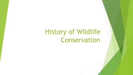 History of Wildlife Conservation. Intro to National Parks: PBS Video 