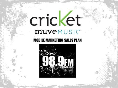 MOBILE MARKETING SALES PLAN. MOBILE MARKETING: Launching Muve Music in an Integrated Campaign By adding a SMS Text call-to-action in all your ads, we.