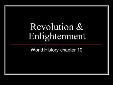 an introduction to the history of enlightenment An introduction to the history of christianity is a beautifully crafted and clearly written introduction to christianity over its 2,000 year.