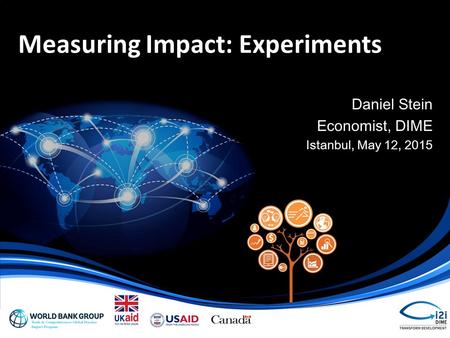 Measuring Impact: Experiments