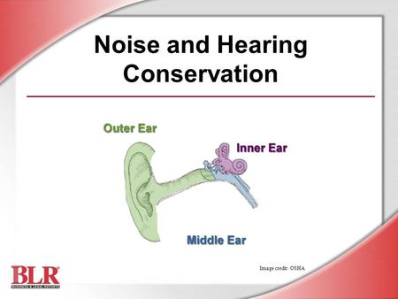 Noise and Hearing Conservation Image credit: OSHA.