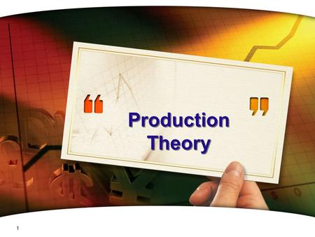Production Theory.