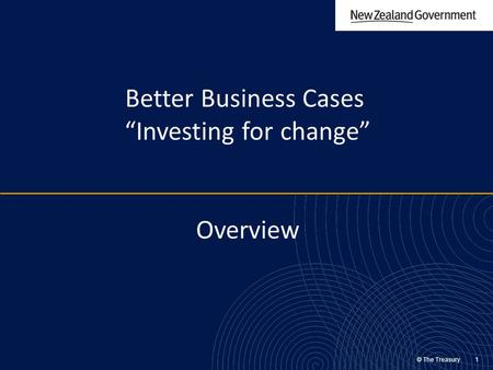 "Better Business Cases ""Investing for change"" Overview"