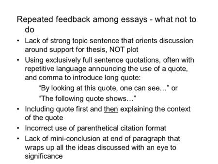 Essay conclusion set up