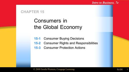 Consumers in the Global Economy