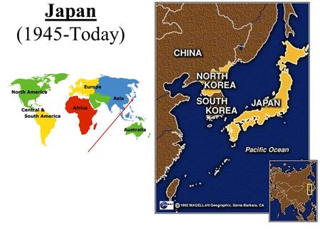 Japan (1945-Today). Japan after WWII -Japan was in shambles -many Japanese were homeless - no homes, food, jobs, or money.