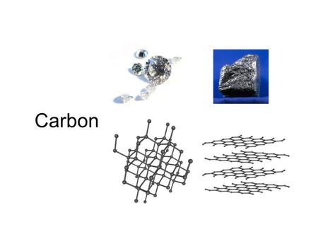 Carbon. Allotropes Carbon can bond with itself in at least three different ways giving us 3 different materials –Diamond –Graphite –Buckyballs and nanotubes.