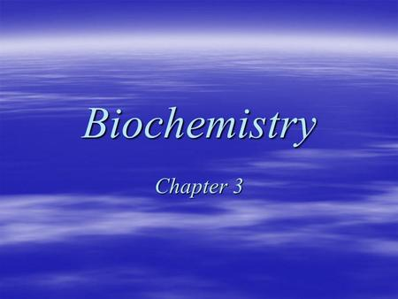 Biochemistry Chapter 3. Water Sec 3-1 Polarity (1)  Many of water's biological functions stem from its chemical structure.  The hydrogen and oxygen.