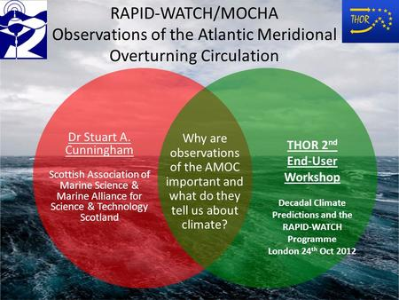RAPID-WATCH/MOCHA Observations of the Atlantic Meridional Overturning Circulation Why are observations of the AMOC important and what do they tell us about.