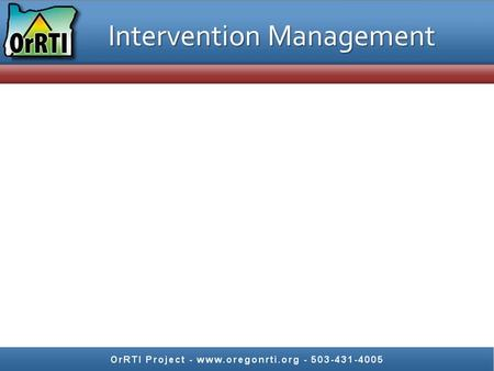 Intervention Management. Keeping RtI on Track Jigsaw chapter 1 (pps. 1-6) Each person reads one section Share a big idea from your section and answer.