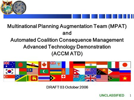 Multinational Planning Augmentation Team (MPAT) and