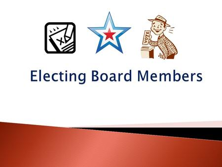  The election process of Board members is outlined by the Code of VA ◦ 10.1-515 Composition of governing body 10.1-515 ◦ 10.1-518.1 Secretary to send.