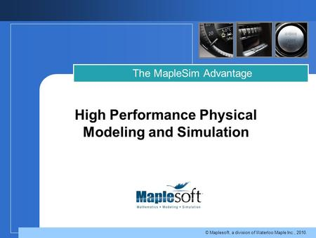 High Performance Physical Modeling and Simulation