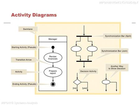 INFO415: Systems Analysis INFORMATION X Activity Diagrams.