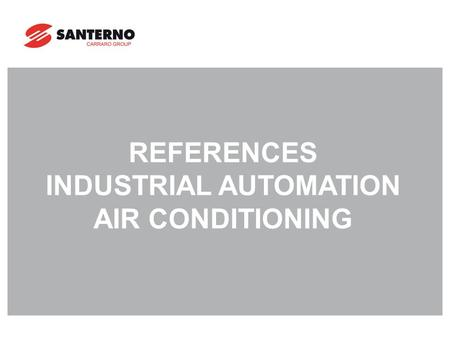 REFERENCES INDUSTRIAL AUTOMATION AIR CONDITIONING.