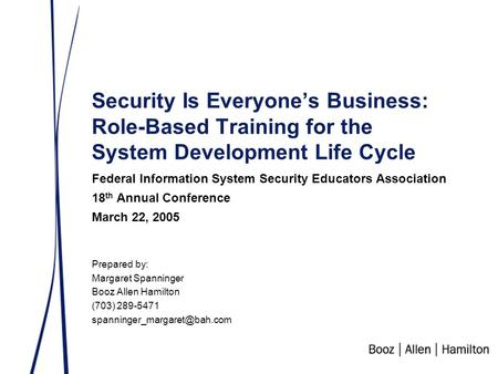 Federal Information System Security Educators Association