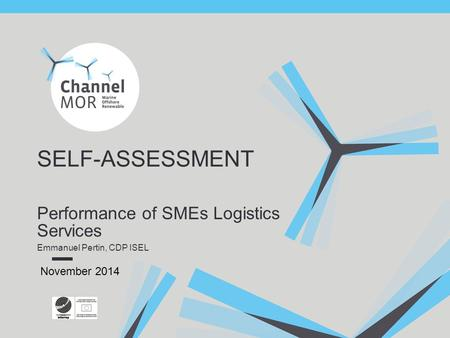 Performance of SMEs Logistics Services Emmanuel Pertin, CDP ISEL