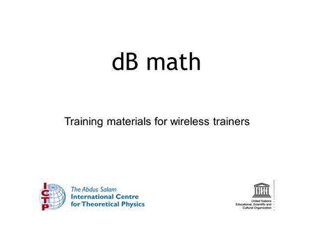 Training materials for wireless trainers