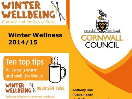 Winter Wellness 2014/15 Anthony Ball Public Health