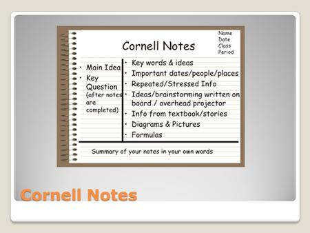 Cornell Notes. Personal Health Care Chapter 13 Your Skins Structure.