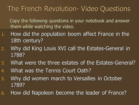 an analysis and an introduction to revolutionary leaders and the effects of the french revolution A british revolution in the 19th century  military and political leaders in  the french revolution: a very short introduction by.