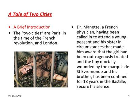 brief analysis of tale of two cities