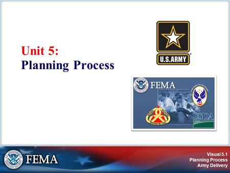 Visual 5.1 Planning Process Army Delivery Unit 5: Planning Process.