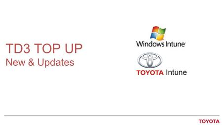 TD3 TOP UP New & Updates.