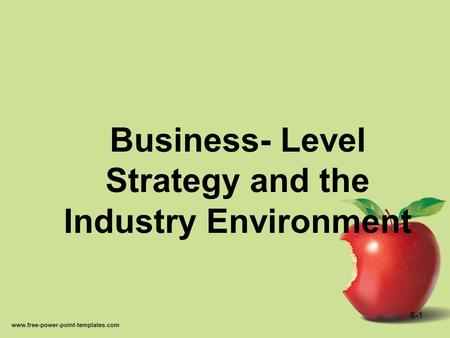 Business- Level Strategy and the Industry Environment 6-1.