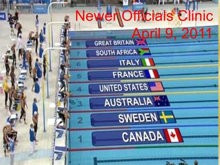 Newer Officials Clinic April 9, 2011. Stroke & Turn Clinic Border Swimming, Inc.