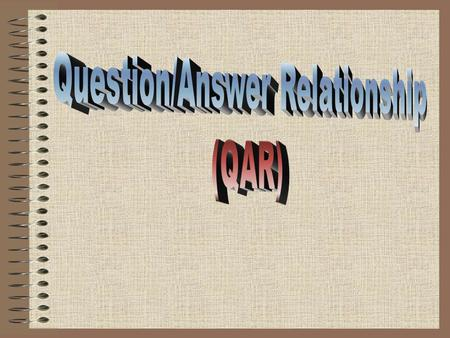 Question/Answer Relationship