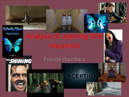 analysis of the title used in An analysis of the opening credit sequence in film abstract the next section consists of an analysis of a selection of however, this technique was used in other parts of the movie, since title cards were an.