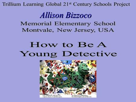 "Allison Bizzoco. The following slides will introduce you to what ""I Spy"" books are and how to create your own. Each student was in charge of creating."