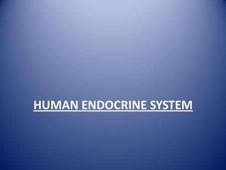HUMAN ENDOCRINE SYSTEM. Chemical co-ordination: Where the homeostasis of the body is maintained through the actions of chemicals (hormones), either endocrine.