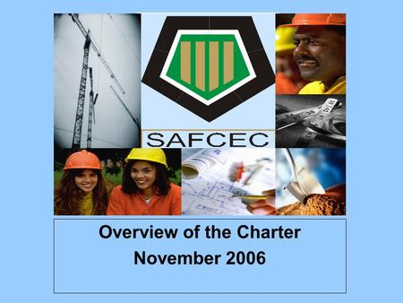 Overview of the Charter November 2006. WhiteBlackWomen Men 90% 6% 94% 10%