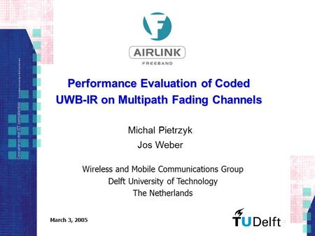 Performance Evaluation of Coded UWB-IR on Multipath Fading Channels