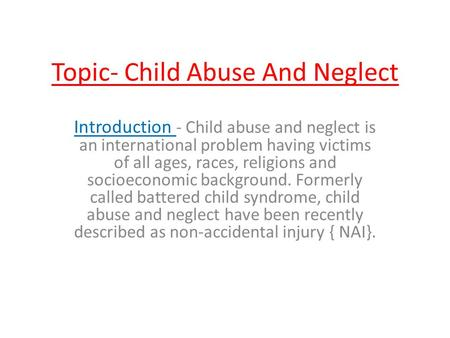 causes effects essay child abuse