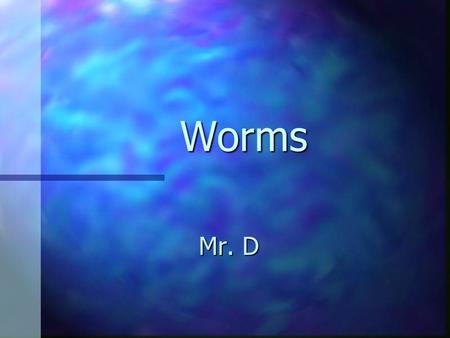 Worms Mr. D.